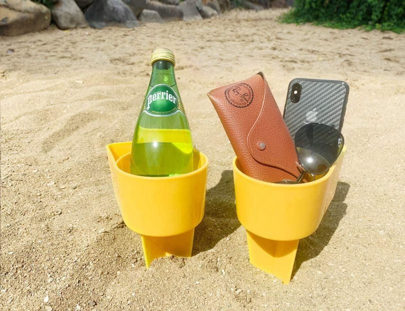 Home Queen Beach Cup Holder with Pocket
