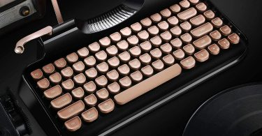 RYMEK Typewriter Style Mechanical Wired & Wireless Keyboard