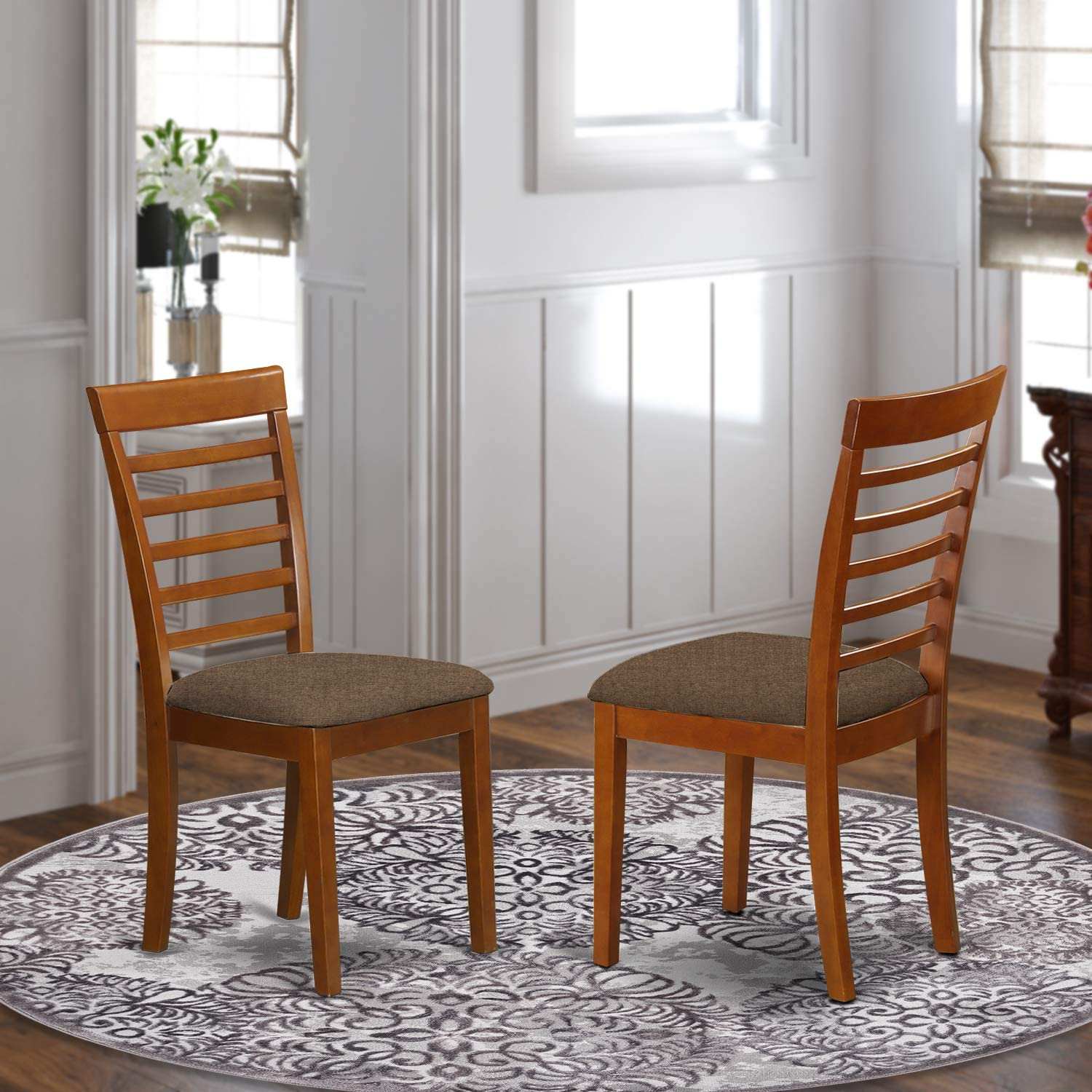 East West Furniture MLC-SBR-C Milan kitchen chairs