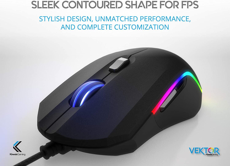 KINESIS Gaming Vektor RGB Mouse