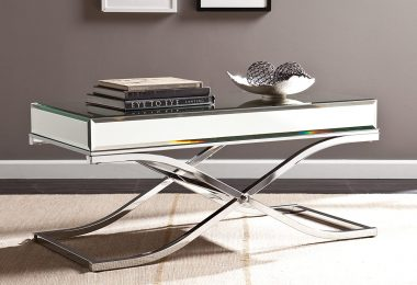 SEI Furniture Ava Mirrored Coffee table