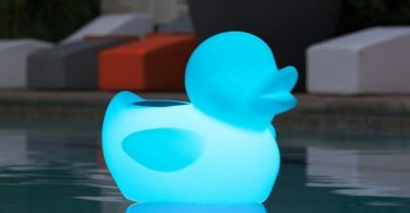 Glowing Waterproof Rechargeable Bluetooth Duck Pool Floating Speaker