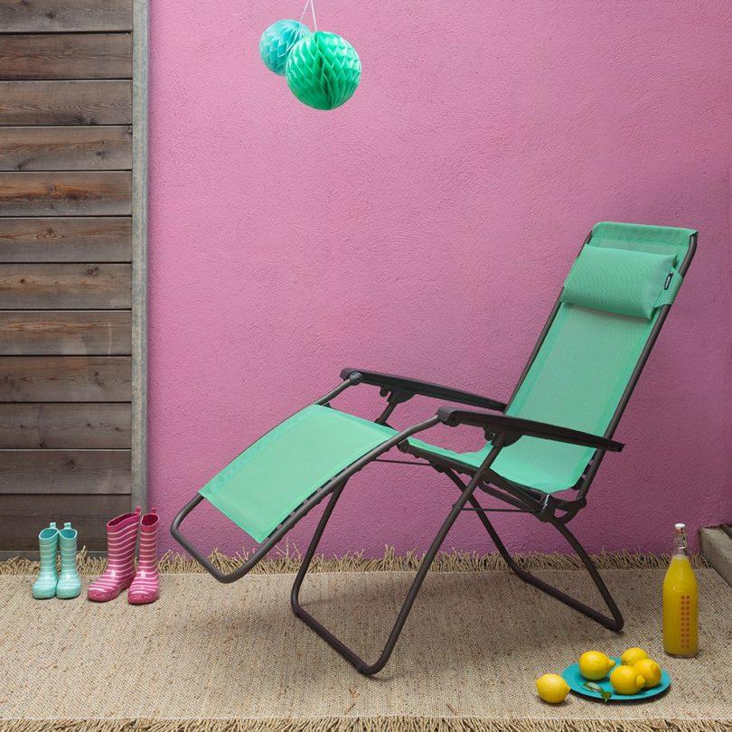 Lafuma R Clip Lounge Chair Magnolia