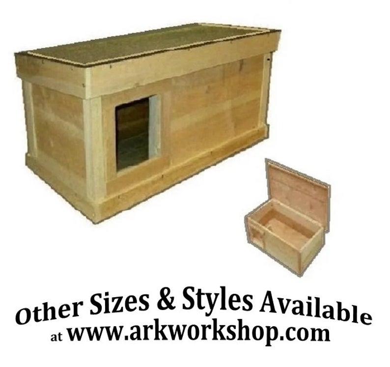Ark Workshop Medium Outdoor Cat House wood shelter home ferals