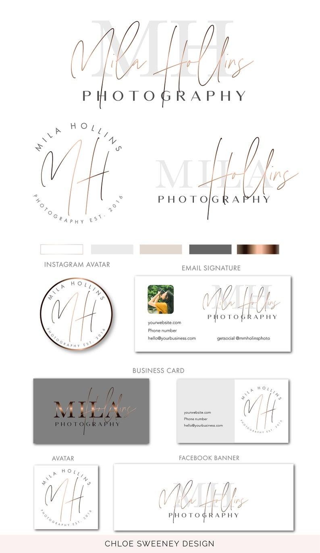 Branding Set Watermark logo Photography Logo Modern Logo