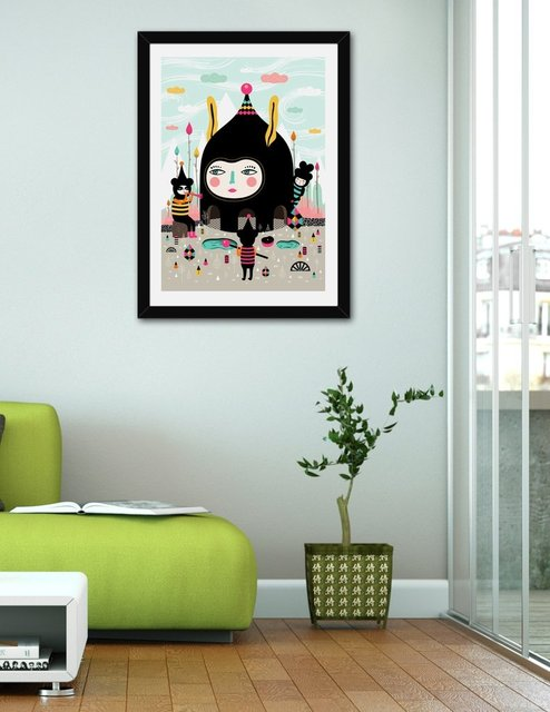 Home Is Where The Happy Creatures Are, Fine Art Print by Muxxi