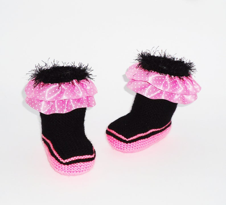 Knitted baby boots Baby booties Warm Boots Girl Shoes Girl