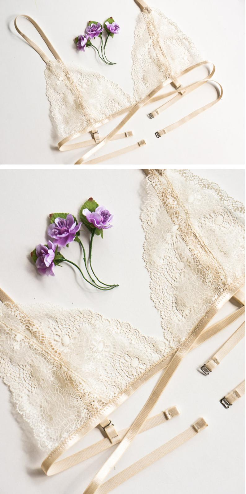 Lace bra lace bralette soft bra underwear sexy lingerie crop