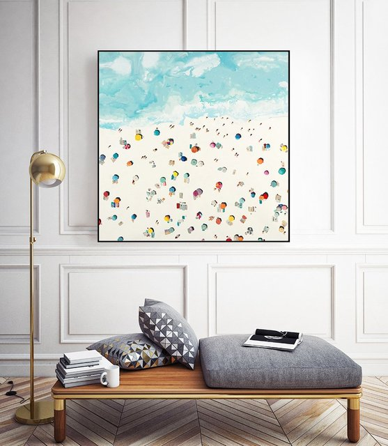 """Beach Days"" Art Block Framed by Giant Art"