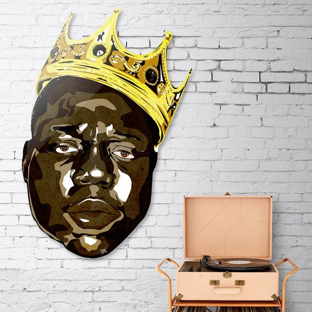Biggie Smalls Die Cut Print by Delano Limoen