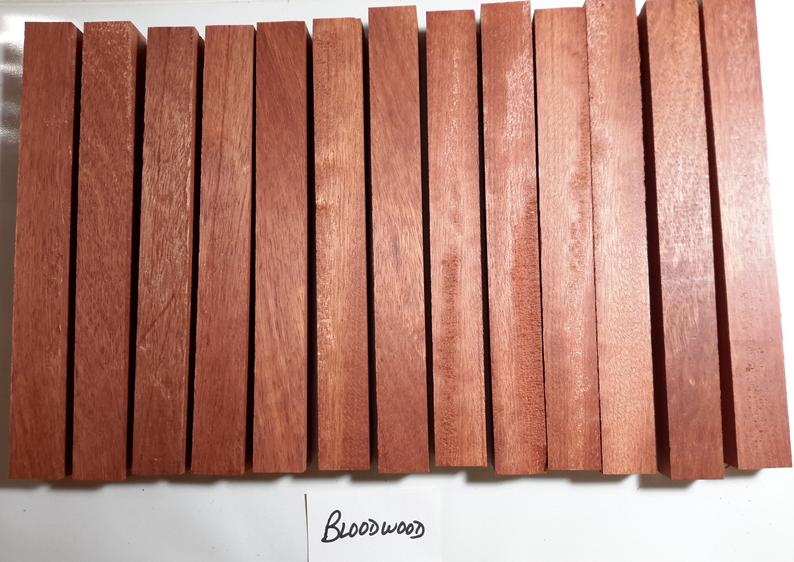 Bloodwood Turning Blanks  7/8 x 7/8 x 8