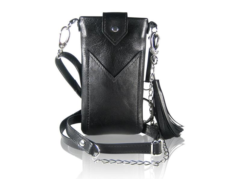 Bodybag ELLA leather mobile phone bag for hanging