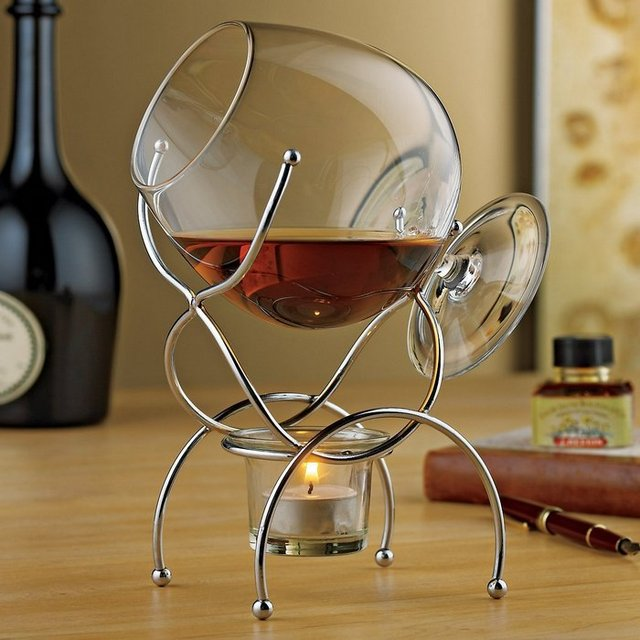 Brandy Snifter and Warmer Set