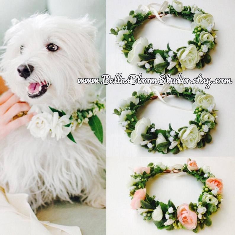 Dog wedding Collar Dog of honor dog wedding Leash Dog