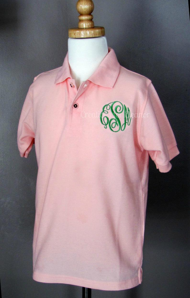 Girls Monogrammed Polo Shirt Girls Polo Shirt Girls