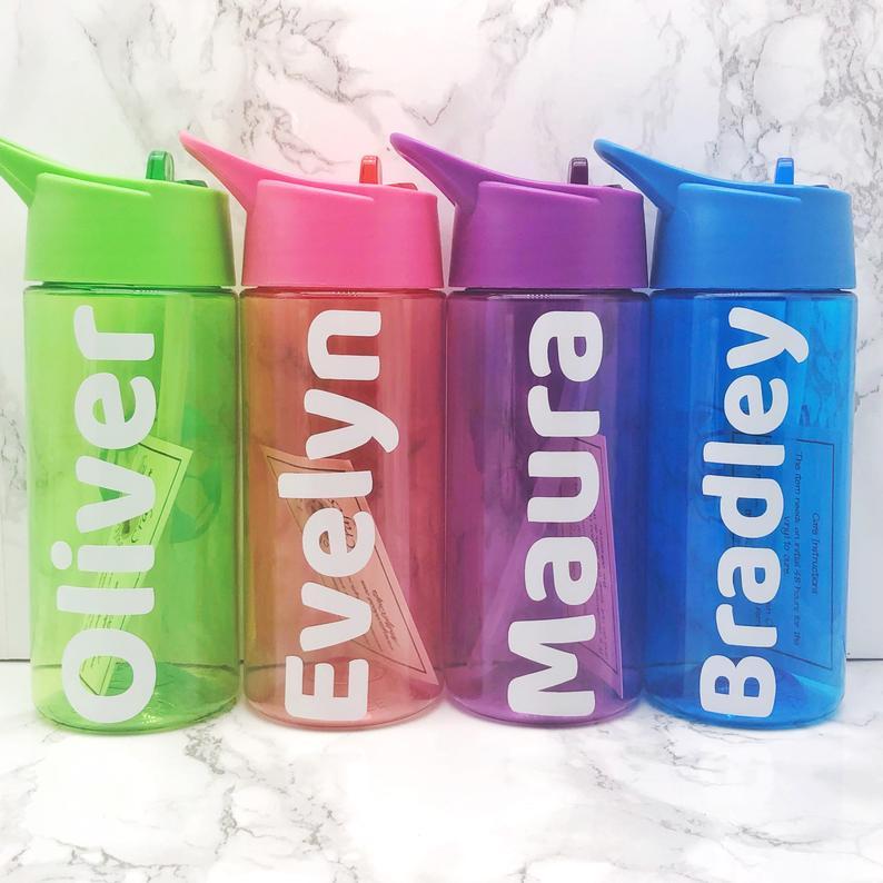 Kids Back To School Personalised Water Bottle 400ml