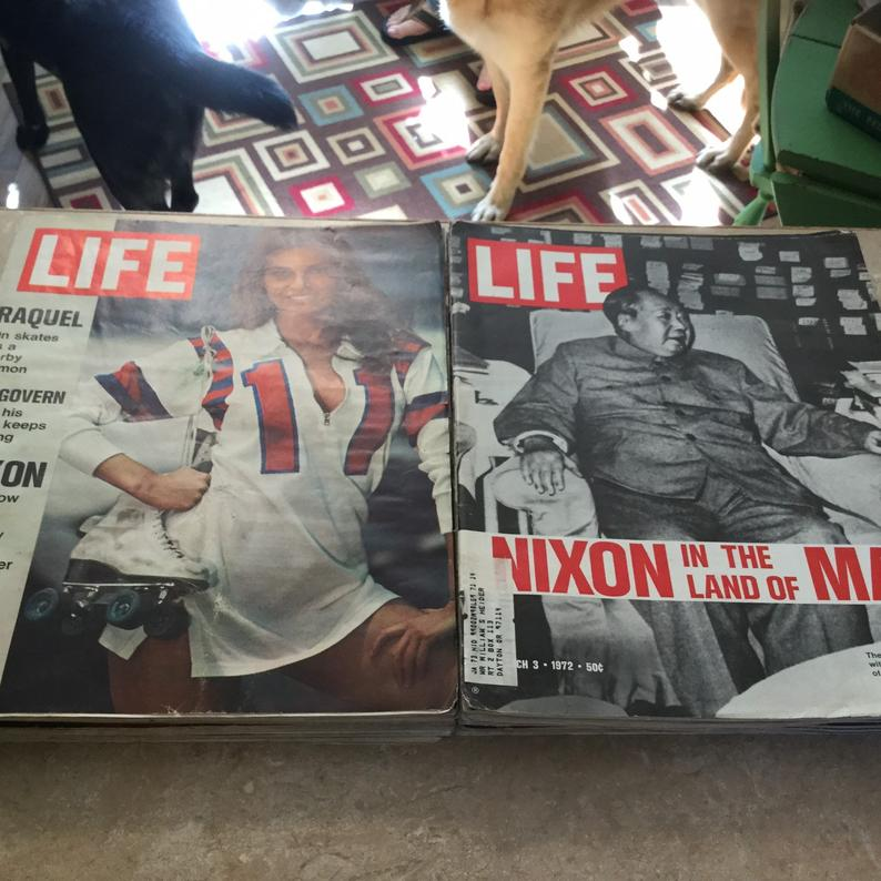 LIFE Magazines 1970s 14 Kennedys Nixon God Father