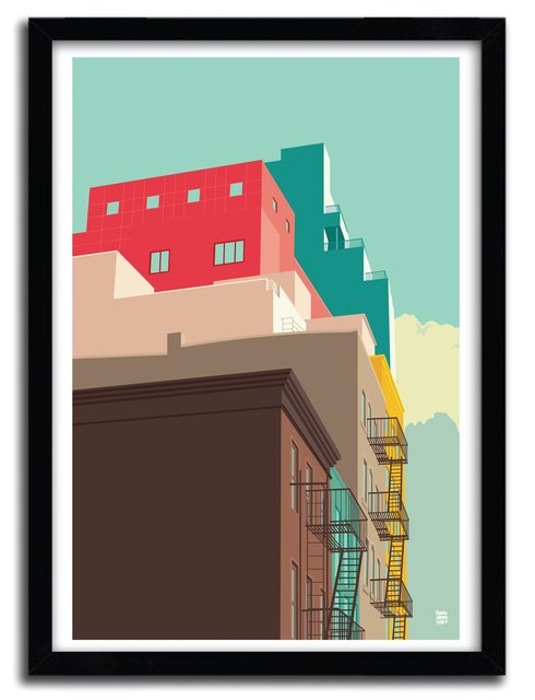 LOWER EASTSIDE Art Print by REMKO HEEMSKERK