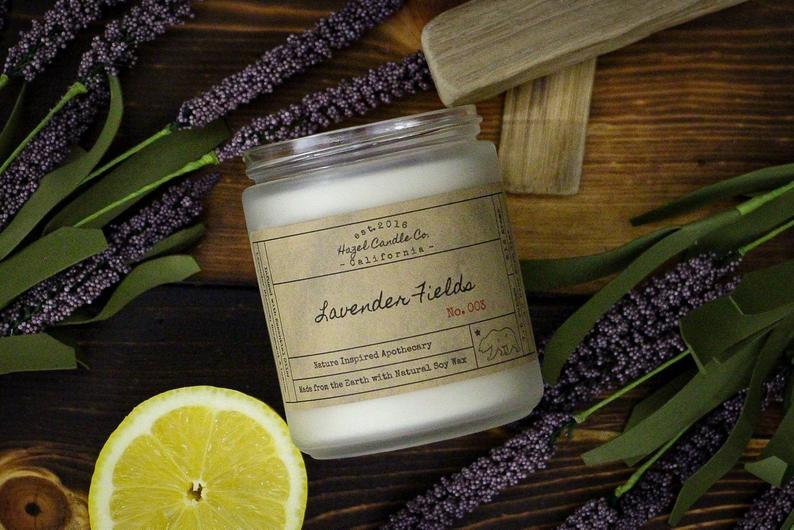 Lavender Scented Candles Eco Friendly Vegan Soy Candle
