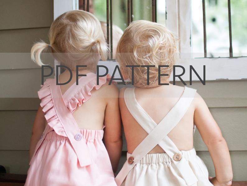 Melbourne Romper PDF boy romper pattern girl romper pdf