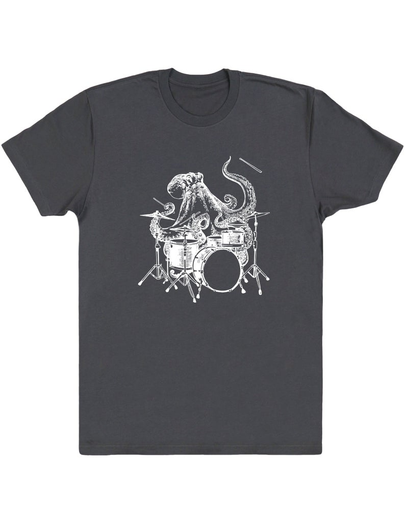Octopus Playing Drums Men's T-Shirt Gift Drummer Shirt