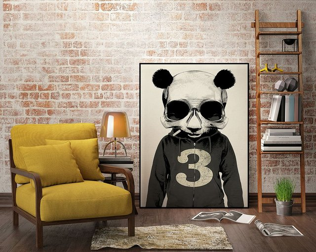 Panda No.3 Art Block Framed Print