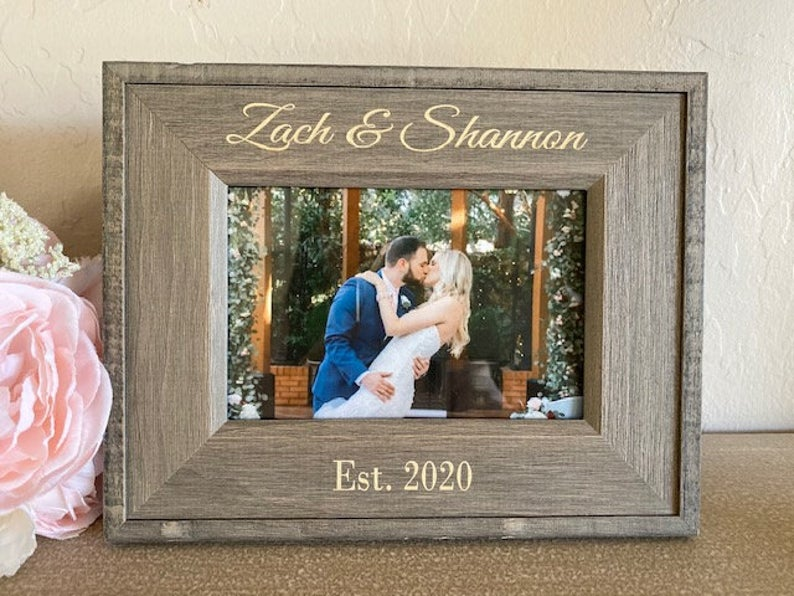 Personalized Picture Frame Custom Picture Frame Engagement
