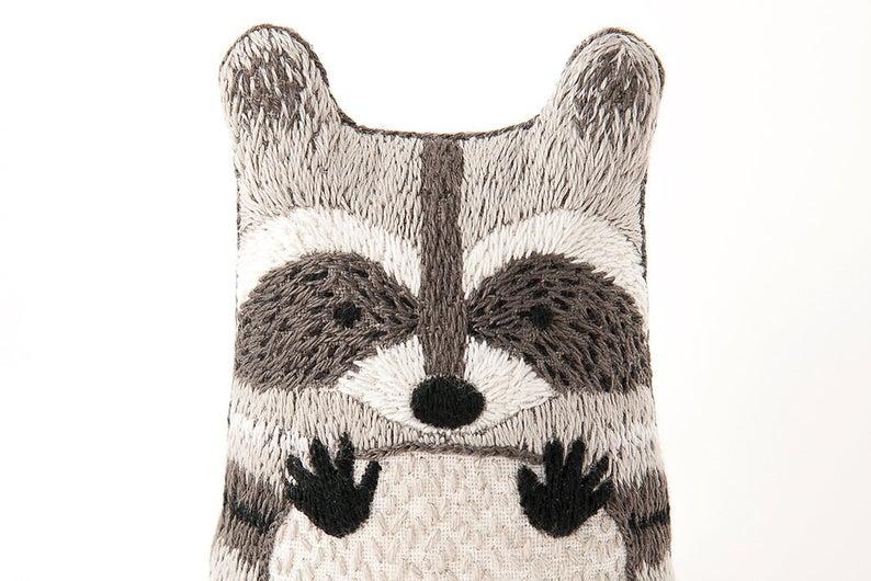 Raccoon  Embroidery Kit