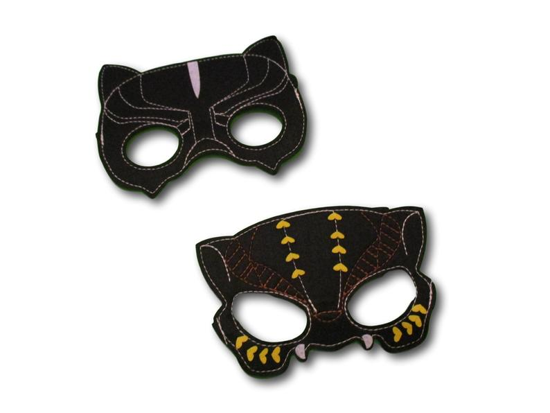 Set of 4 Black Panther Felt Mask Birthday Party Favors