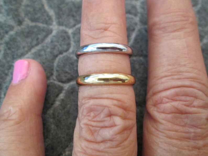 Solid 14kt. Gold Bands Your Choice of color