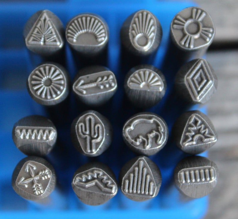 Southwest Metal Design Stamp 3/8 in.8mm approx image-Metal