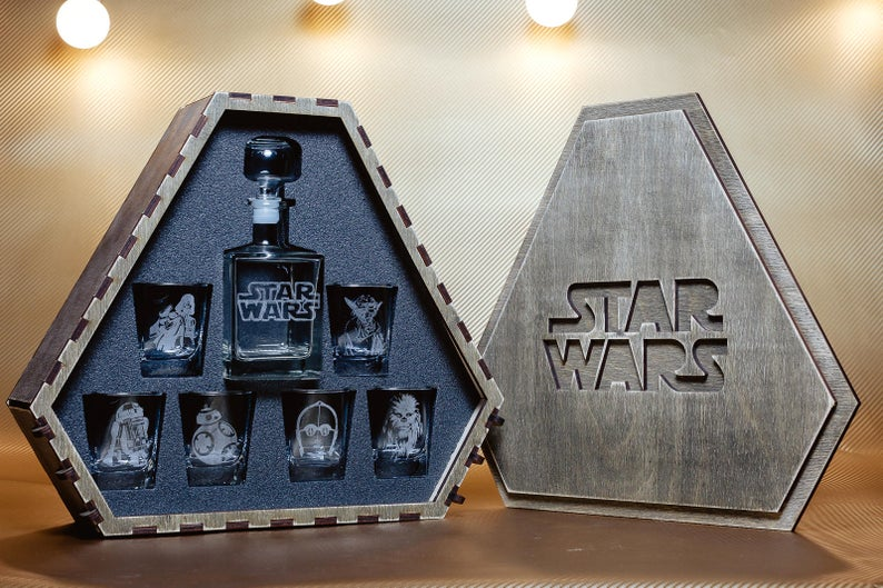 Star Wars Star Wars Gift  Star Wars Whiskey Decanter Set