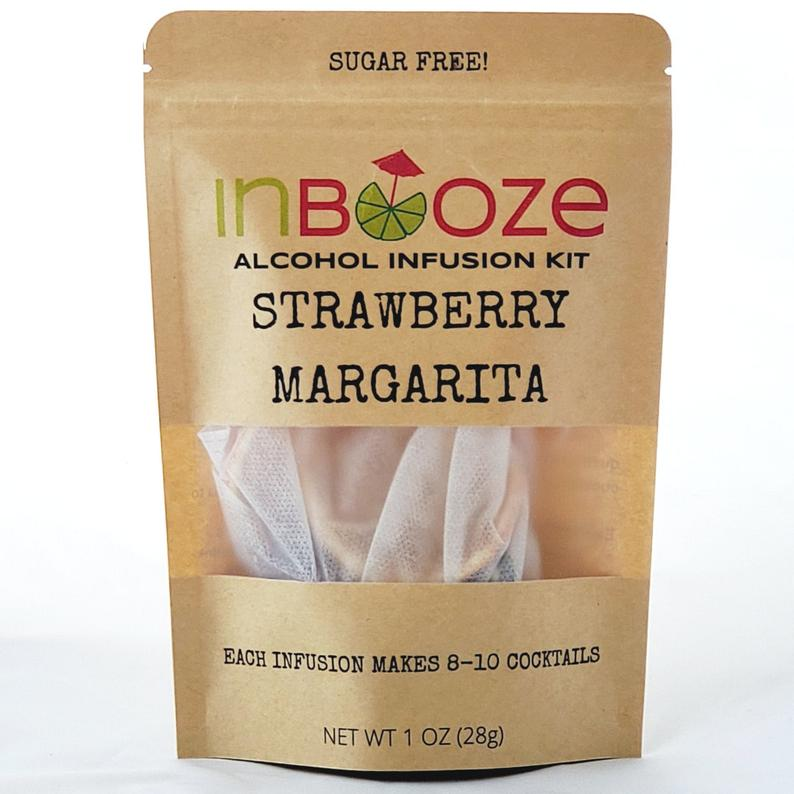 Strawberry Margarita Cocktail Kit to Infuse Tequila by