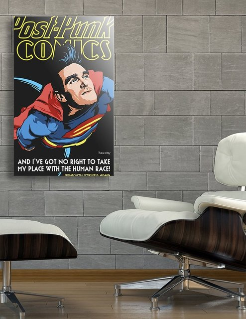 This Charming Man of Steel | Super Mouth Strikes Again, Acrylic Glass Print by Butcher Billy