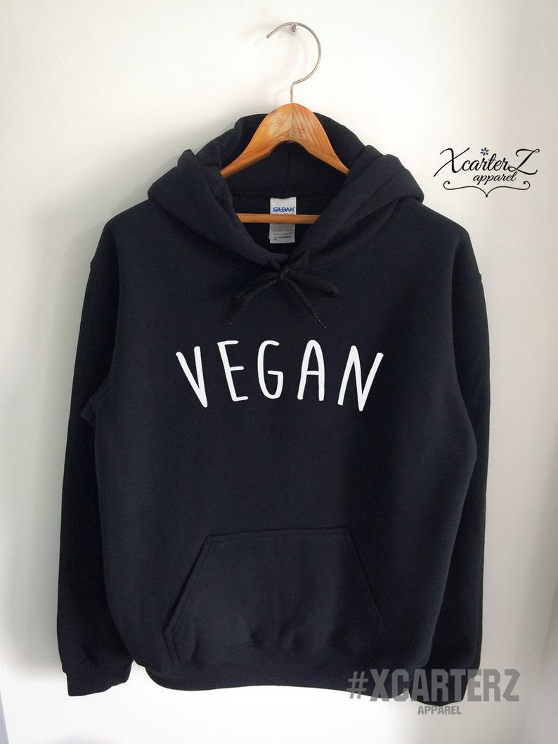Vegan Hoodie Vegan Sweater Vegan Sweatshirt Vegan Fleece