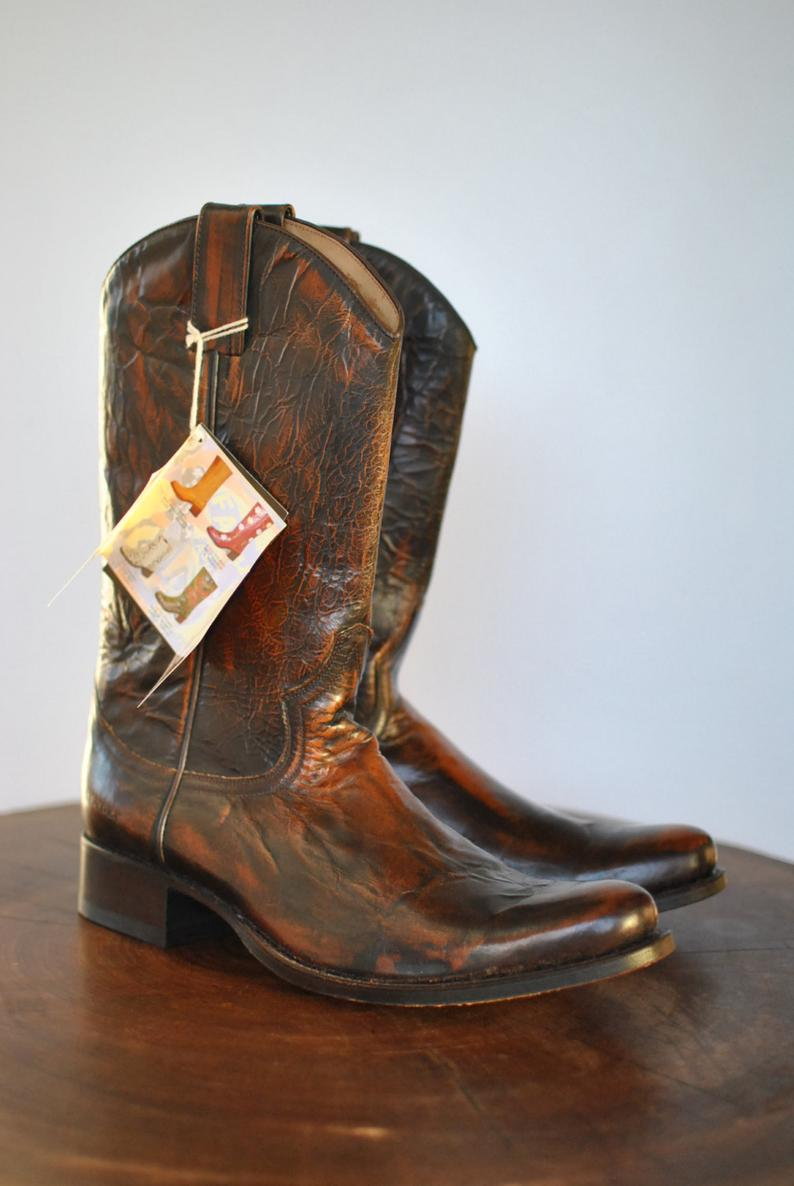 Vintage SENDRA advance patina leather boots  cowboy boots