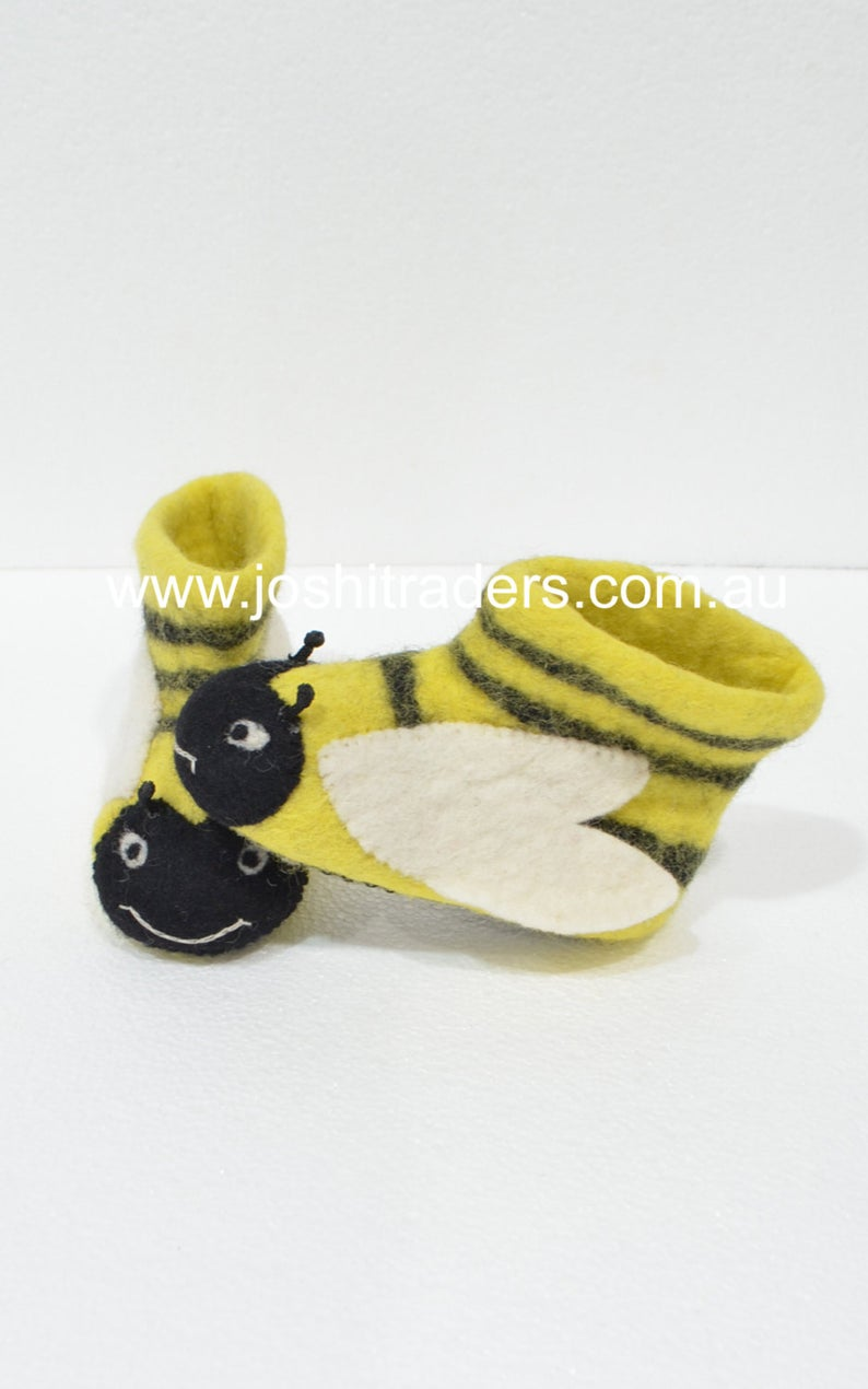 Warm felt slippers boots winter boots for children animal