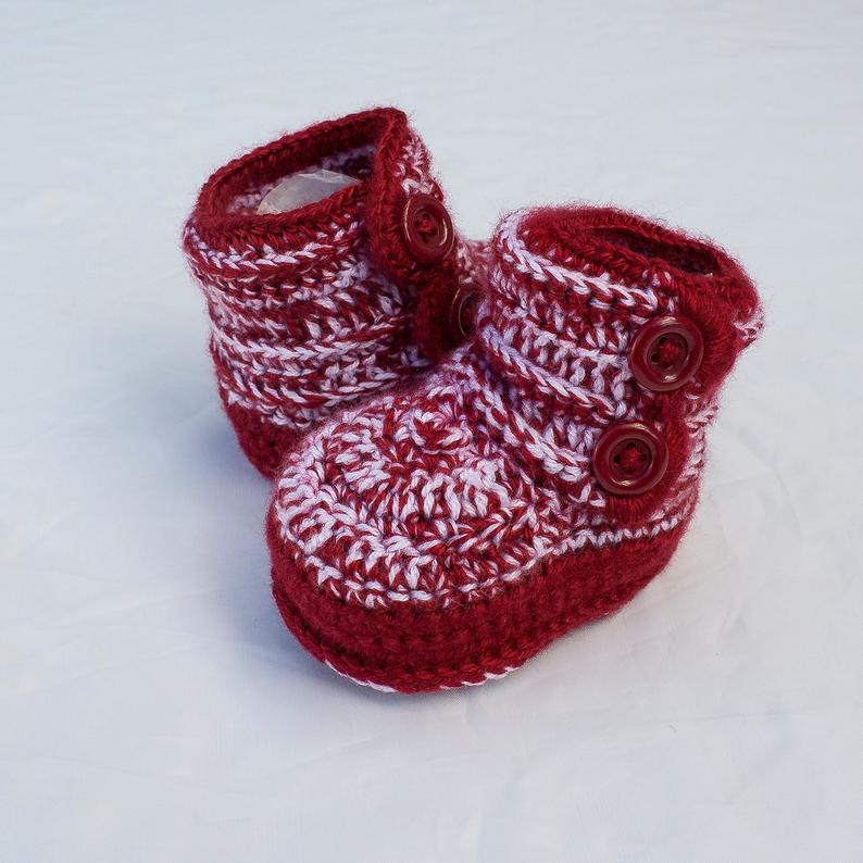 Winter Booties Red Boy Shoes Red Boy Booties Red Baby Boy