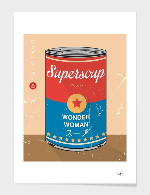 Wonder Woman – Supersoup Series Limited Edition Print by Hyo Taek Kim