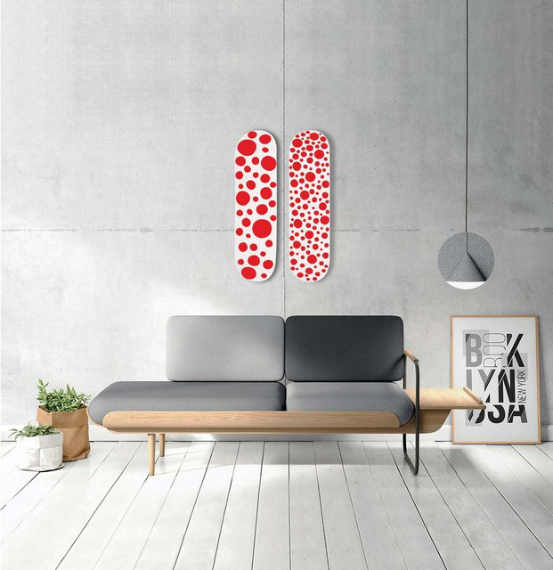 Yayoi Kusama x MoMA Skateboard Red Small Dots