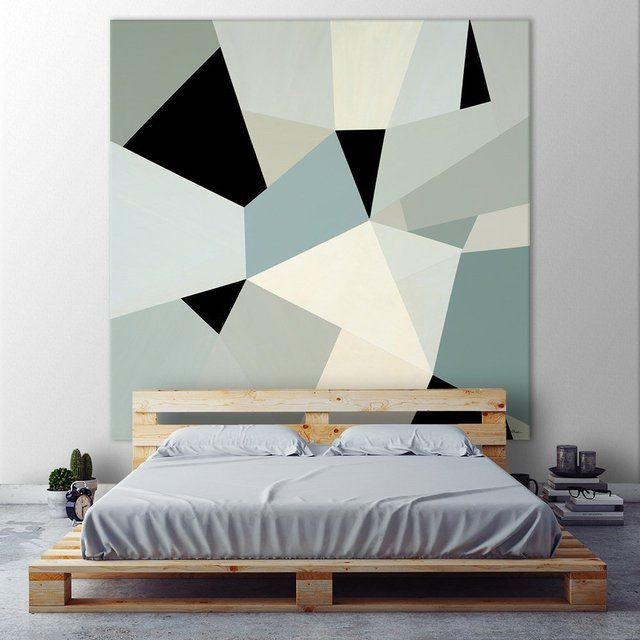 Adapt II. Giant Abstract Art Print on canvas 54 x 54 inches