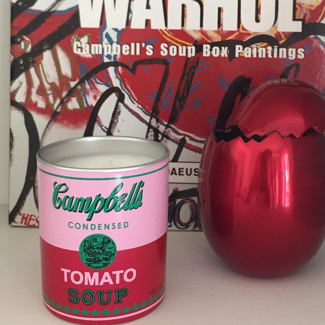Andy Warhol Pink/Red Soup Candle