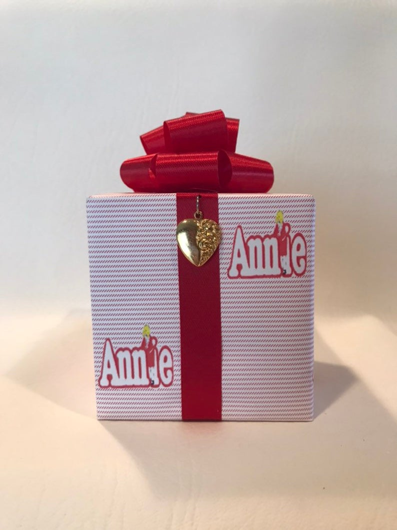 Annie Music box wrapped as a gift