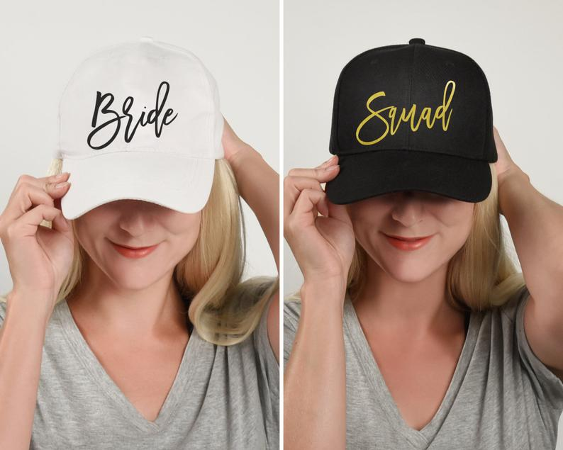 BRIDE SQUAD HATS Bachelorette Party Snapbacks Hen Party