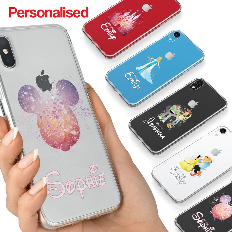 Cartoon Movie PERSONALISED CLEAR TPU Phone Cover Case for