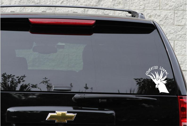 Cockatoo parrot decal