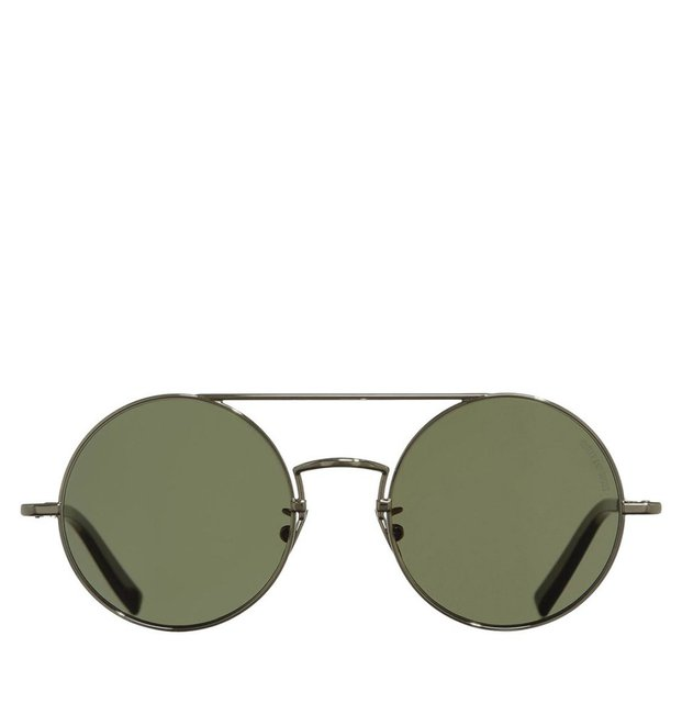 Cutler and Gross Round-Frame Palladium Black Metal Sunglasses