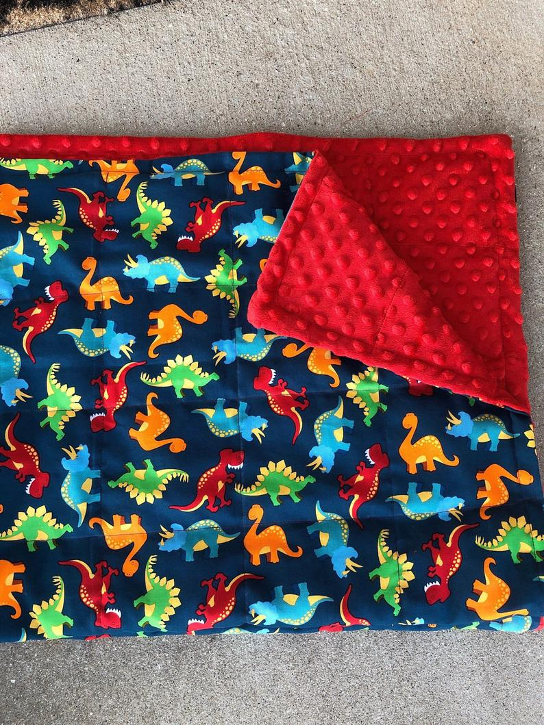 Dinosaurs with minky. 35X40 and 40X60 With minky