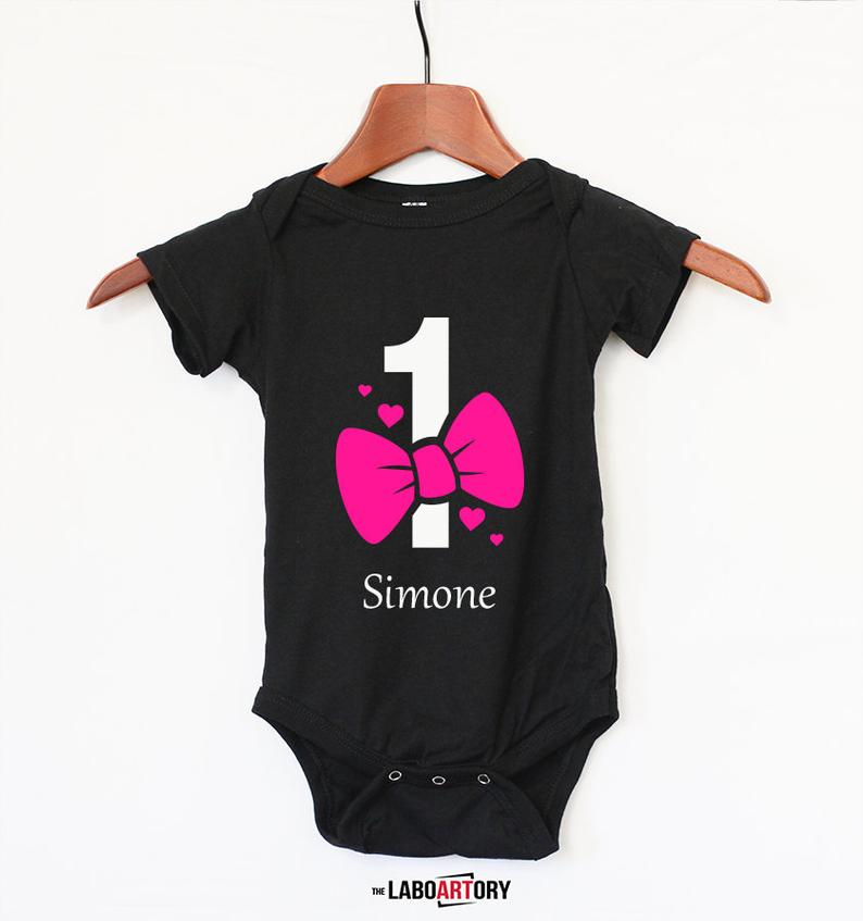 First Birthday Personalized Gift  1st Birthday Baby Bodysuit