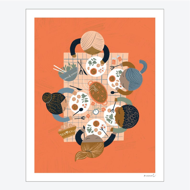 Foodie Friends Print